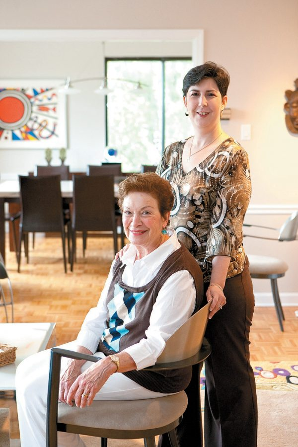 Sarijane Freiman (seated), with her daughter, Rebecca Helfer. Photo: Lisa Mandel