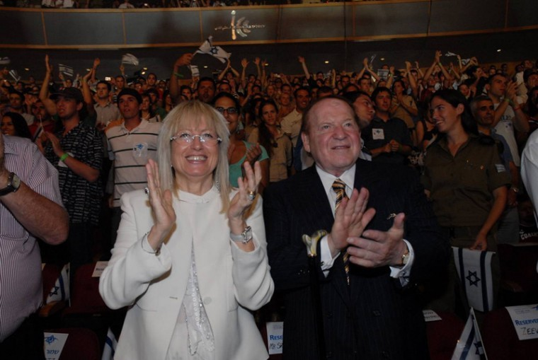 As the recession ends, will mega-donors like Sheldon Adelson re-up their Jewish giving?  Credit: Courtesy of Deborah Camiel