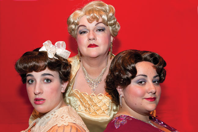 Three faces of Sophie Tucker in the New Jewish Theatre's 'Last of the Red Hot Mamas': (from left) Phoebe Raileanu, Christy Simmons and Johanna Elkana-Hale.