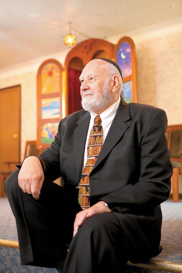 Unsung Hero Jack Cohen at B'nai Torah in St. Charles County. Photo: Lisa Mandel