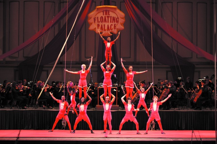 Circus Flora performs with the St. Louis Symphony at Powell Hall on January 7, 2011.