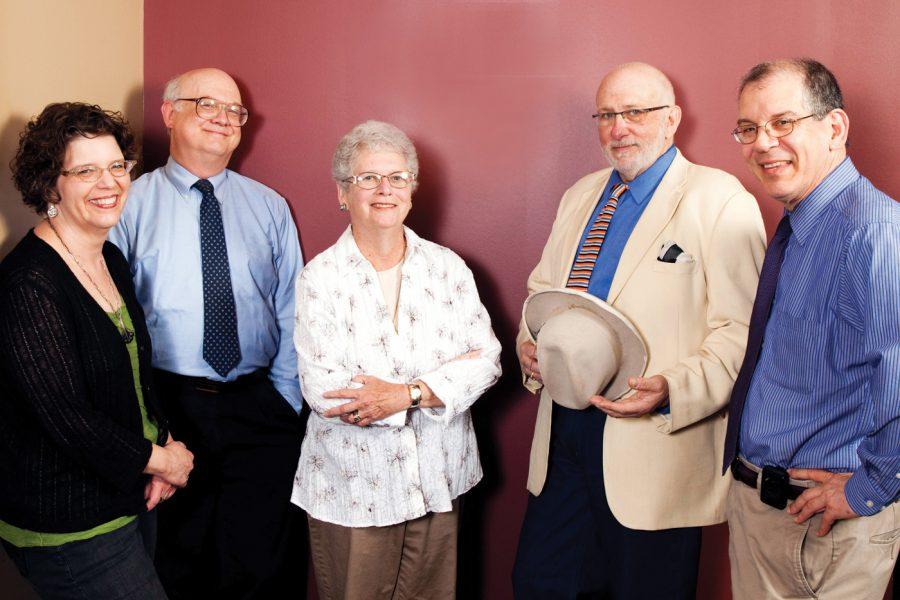 (From left) Margie Kessler, Steve Sorkin, Marsha Koski, Rabbi James Stone Goodman and Lou Albert of Jewish Prison Outreach board. Photo: Kristi Foster