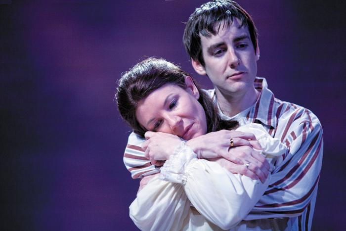 Michelle Hand and Robert Thibaut star in the New Jewish Theatre production of 'The Immigrant.' Photo by John Lamb.