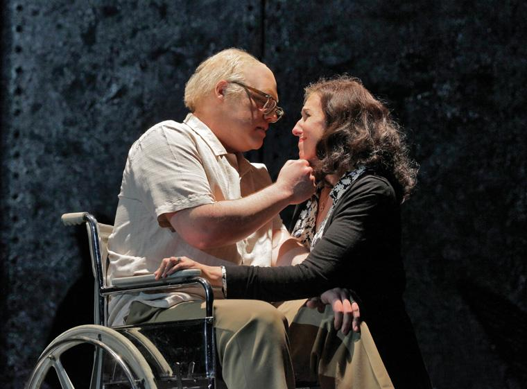 Brian Mulligan and Nancy Maultsby perform in rehearsals for Opera Theatre of Saint Louis' production of 'The Death Of Klinghoffer. Photo: Ken Howard/OTSL