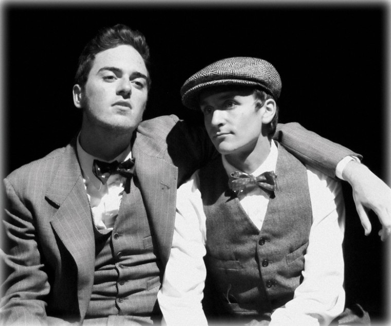 Blake Berry Davy as Richard Loeb and James Bleecker as Nathan Leopold in 'Thrill Me: The Leopold & Loeb Story.