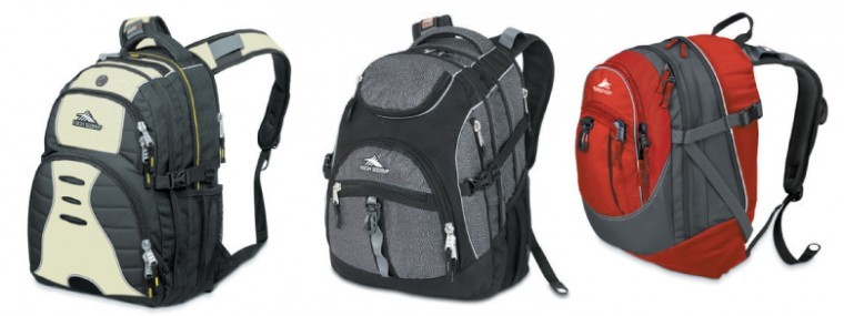From left: the Swerve, Access and Fatbody backpacks the High Sierra Sports Company