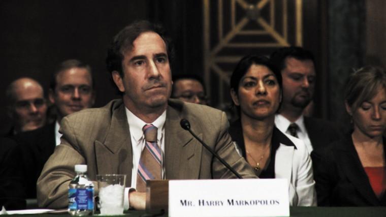 Harry Markopolos provides testimony during a Senate Banking Committee hearing regarding the Bernard Madoff scandal on September 10, 2009. Photo: Nico Doldinger