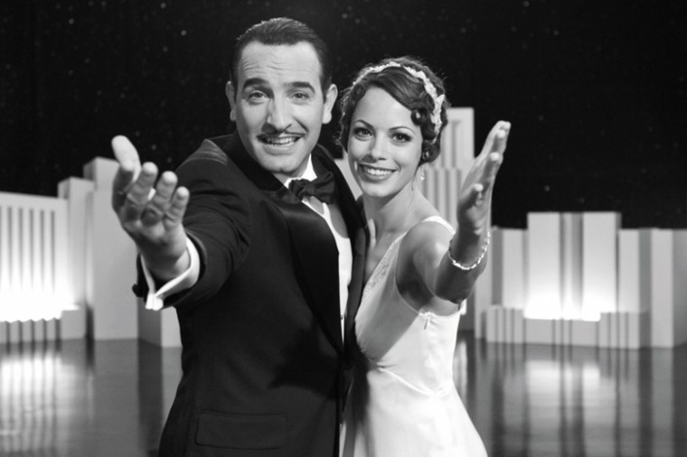 The Artist staring Jean Dujardin, left, as George Valentin and Bérénice Bejo as Pepper Miller.