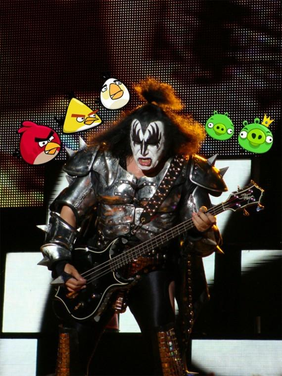 Gene Simmons is developing a version of the popular mobile game Angry Birds that will feature his band.