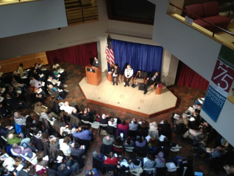 Opening panel of the one-state conference at Harvard University's Kennedy School of Government, March 3, 2012.