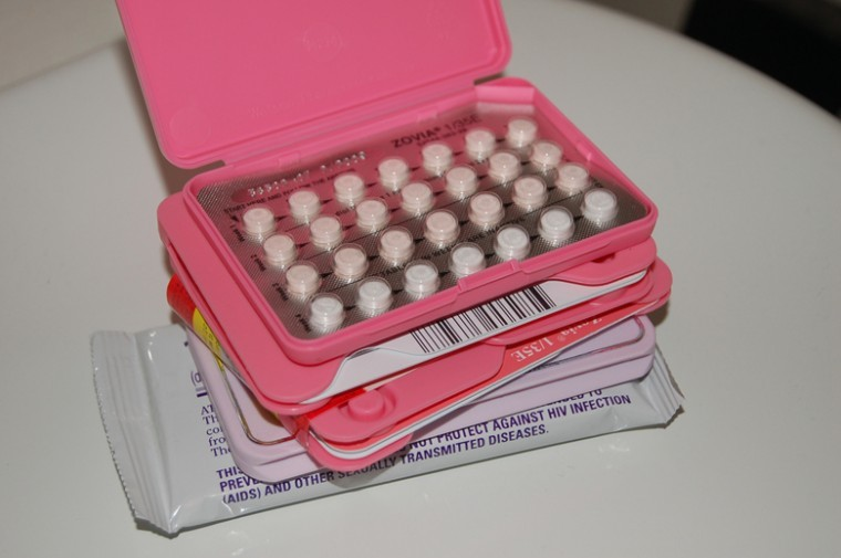 Birth control, illustrated by the Zovia brand pills shown here, has become a hot topic in the presidential election campaign.