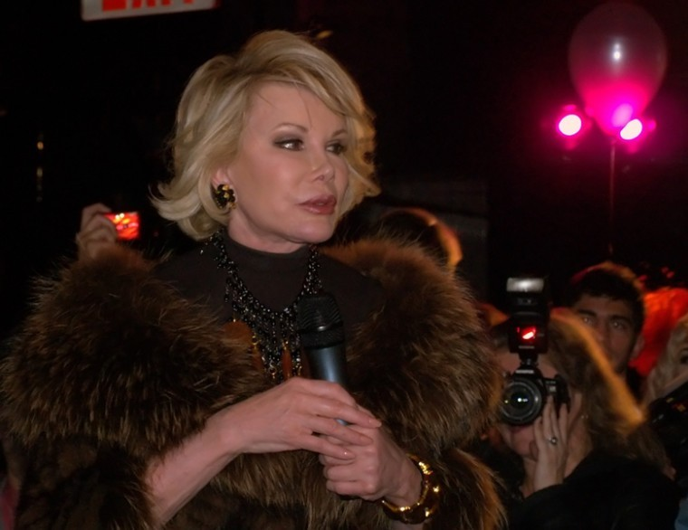 Joan Rivers, seen here speaking at a party in New York in 2010, told an Australian newspaper that she has undergone 739 plastic surgery procedures.