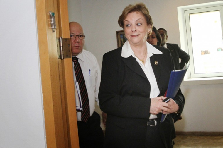 Israeli Supreme Court President Dorit Beinish, shown arriving at a news conference at the court in Jerusalem on Feb. 6, 2012.