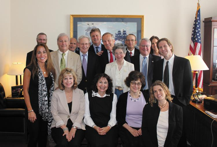 Fifteen members of the 33-person St. Louis delegation to the 2011 AIPAC Policy Conference meet with Rep. Todd Akin in his office after the recent Policy Conference in Washington.