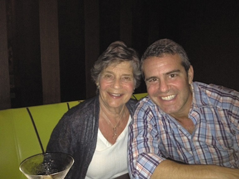 Evelyn Cohen and her son Andy Cohen. Andy Cohen, television programming executive and producer, talk show host, blogger and book author, will serve as master of ceremonies at NCJW's Bravo St. Louis event.