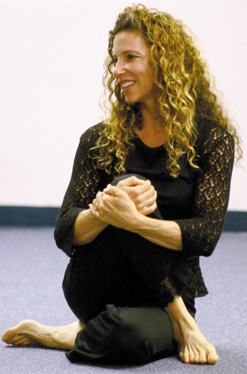 Maxine Mirowitz teaches a Torah Yoga class in a Jewish Light file photo from 2007.