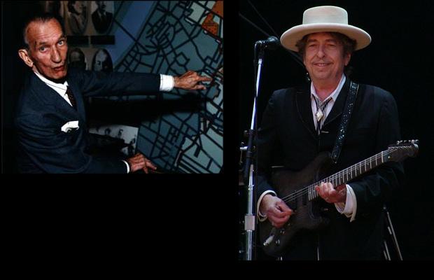 Jan Karski (left) and Bob Dylan