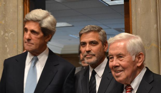 Sen.+Richard+Lugar%2C+right%2C+accompanies+actor+George+Clooney+with+Sen.+John+Kerry+for+Clooney%27s+testimonial+on+Sudan+issues%2C+in+Washington%2C+D.C.%2C+March+14%2C+2012.+Lugar%27s+defeat+in+a+primary+election+has+pro-Israel+activists+worried+about+bipartisanship+in+Congress.%0A
