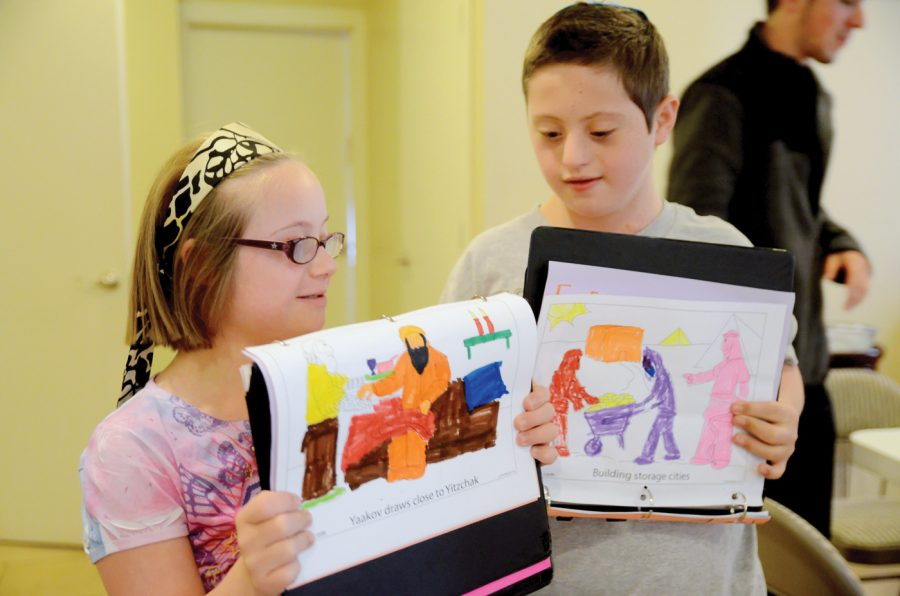 Ayelet Smason and Eitan Shapiro show some of their work from a recent COAST class. Photo: Yana Hotter
