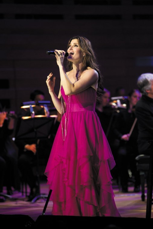 Idina Menzel performing on her 2012 tour.