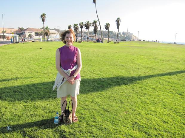 Gail Wechsler in Israel, where she attended a social justice activism conference. Wechsler is Director of Domestic Issues/Social Justice for the Jewish Community Relations Council.