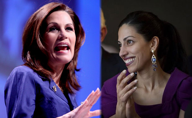 Some Jewish leaders accused Rep. Michele Bachman, left, for launching a witch hunt following her allegations that Huma Abedin had ties to the Muslim Brotherhood.