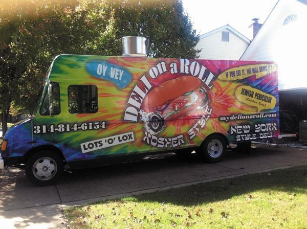 An image of the Deli on a Roll food truck from its Facebook page.