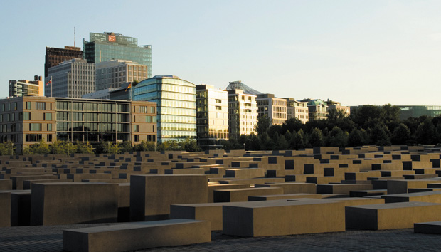 The+Holocaust+memorial+in+Berlin+features+an+above-ground%2C+abstract+monument+resembling+tombstones.+Photo%3A+Plano+Light+%2F+Creative+Commons%0A