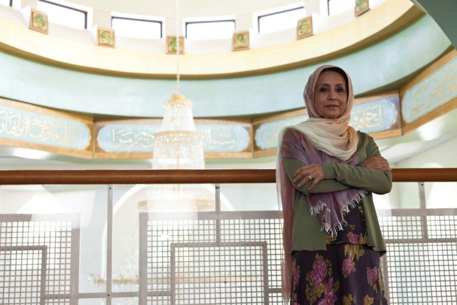 Zubaida Ibrahim at the Daar ul-Islam mosque. Photo: Lisa Mandel