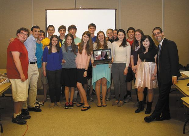 Pictured+are+the+graduates%C2%A0of+the+spring+semester%C2%A0of+the+Sen.+John+Danforth+Israel+Scholars+Program+with+Rabbi+Michael+Rovinsky+%28right%29+and+David+Iken+%28second+from+left%29.%C2%A0The+program+is+now+seeking+teen+applicants+for+its+fall+semester.%C2%A0