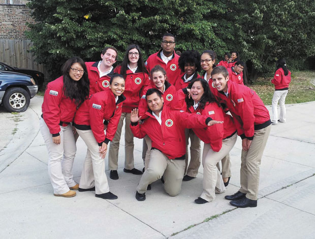 Parkway+Central+graduate%C2%A0Ben+Rubin%2C+%28second+from+left%29+is+pictured%C2%A0with+fellow+Americorps+members.