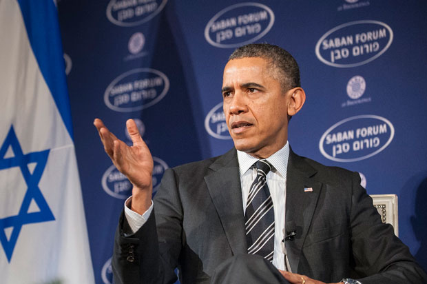 President+Obama+participating+in+a+conversation+at+the+10th+annual+Saban+Forum+on+U.S.-Israel+relations+in+Washington%2C+Dec.+7%2C+2013.+%28Pete+Marovich%2FGetty+Images%29