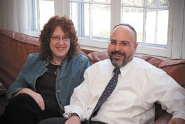 Sara Winkelman and Rabbi Hyim Shafner