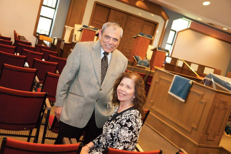 Judy and Dr. Robert Hellman inside Young Israel of St. Louis. Photo: Lisa Mandel