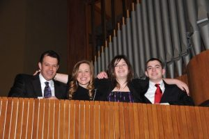 The Worth Family: parents Brad and Amy and siblings Ali and Michael at Ali's bat mitzvah in 2012.