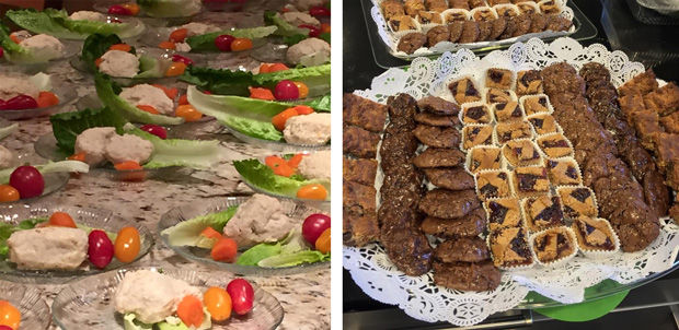 The+traditional+route%3A+gefilte+fish+versus%C2%A0+%E2%80%9Cfudged%E2%80%9D+flourless+chocolate.+Photos+courtesy+of+photographer+and+chef+Liana+Stein-Ben-Ze%E2%80%99ev.