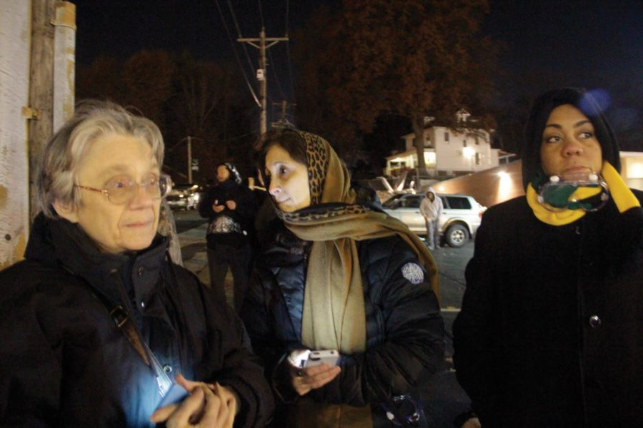 From+left%2C+Margaret+Phillips%2C+Rabbi+Susan+Talve+and+Rev.+Melissa+Bennett%2C+stand+across+from+the+Ferguson+police+station+Monday+night%2C+about+an+hour+after+tear+gas+had+been+released+to+disperse+protesters.+Photo%3A+Philip+Deitch%C2%A0
