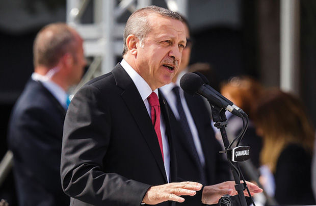 Turkish+President+Recep+Tayyip+Erdogan+speaks+during+a+ceremony+in+Turkey+in+April%2C+commemorating+the+Gallipoli+campaign+of+World+War+I.%C2%A0+Photo%3A+Carsten+Koall%2FGetty+Images%C2%A0