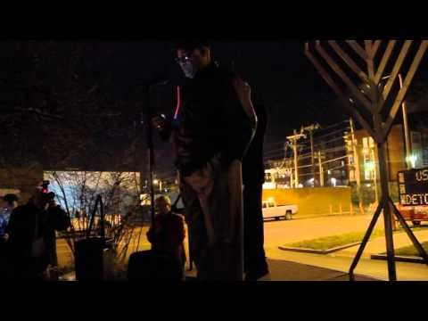 Clergy gather for public menorah lighting in response to attacks
