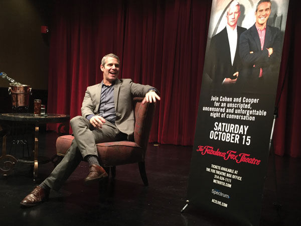 Andy+Cohen+visited+St.+Louis+last+week+to+promote+his+upcoming+tour+with+Anderson+Cooper.%C2%A0