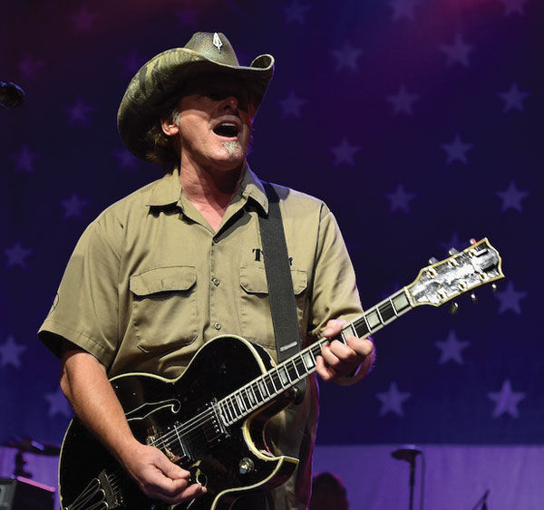 Ted Nugent performing at Charlie Daniels' 2015 Volunteer Jam at Bridgestone Arena in Nashville, Tennessee, Aug. 12. Photo: John Shearer/Getty Images for Webster Public Relations