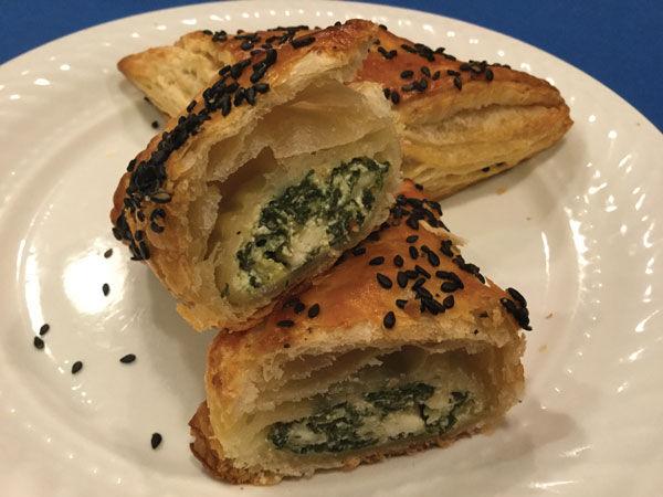 Margi+Lenga+Kahn%E2%80%99s+Spinach+and+Feta+Cheese+Burekas.+Photo%3A+Michael+Kahn