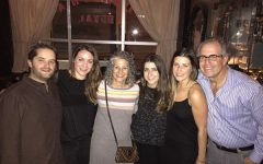 The Staenberg Family:From left, Joel and Rachael Brightfield and Carol, Leah, Hannah and Michael Staenberg.