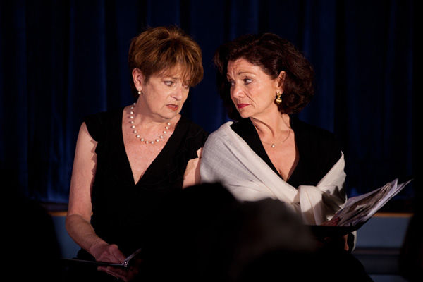 """Arva Rose and Kate Zentall perform in a Jewish Women's Theatre production of """"In Fine Print"""" by Bara Swain. The JWT will perform 'The Art of Forgiveness' at Shaare Emeth on Sept. 24."""