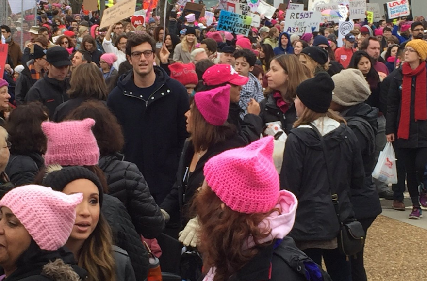 Joshua+Kushner+at+the+Women%E2%80%99s+March+on+Washington%2C+Jan.+21%2C+2017.+%28Screenshot+from+Twitter%29