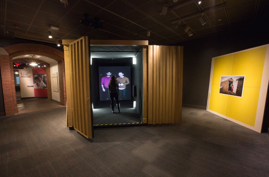 A+new+exhibit+at+the+U.S.+Holocaust+Memorial+Museum+allows+visitors+to+video+chat+with+refugees.+%28Courtesy+of+the+U.S.+Holocaust+Memorial+Museum%29