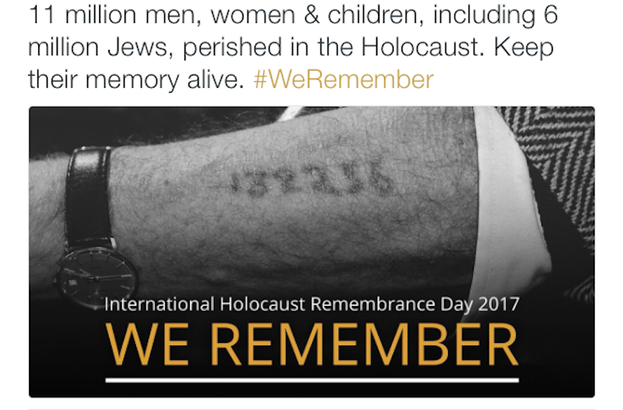 A+social+media+post+by+the+IDF+Spokesperson%E2%80%99s+Unit%2C+marking+International+Holocaust+Remembrance+Day%2C+includes+a+total+of+Jews+and+non-Jews+killed+in+the+Holocaust+that+historians+say+is+greatly+exaggerated.+%28Twitter%29