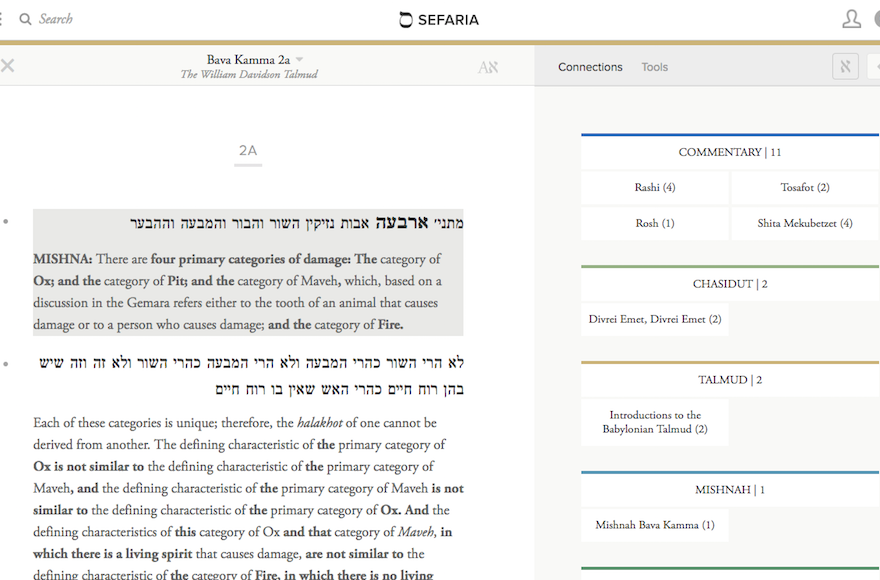 The+interface+of+the+Steinsaltz+Talmud+on+Sefaria+includes+line-by-line+translation%2C+along+with+links+to+commentaries+and+references+to+a+range+of+Jewish+sources%2C+which+appear+in+a+separate+vertical.+%28Courtesy+of+Sefaria%29