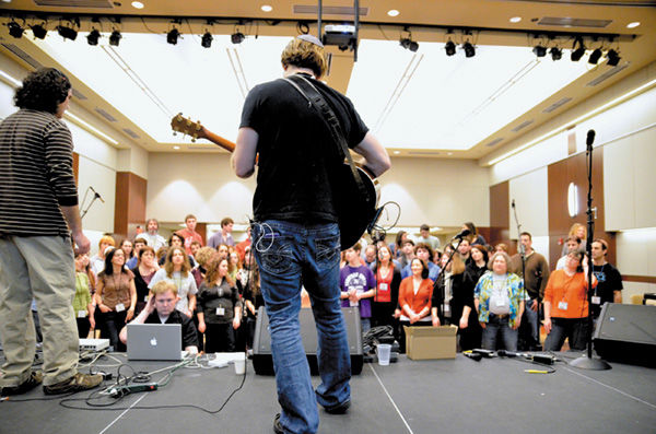 A scene from a past 2014 JCC Songleader Boot Camp. File photo: Yana Hotter