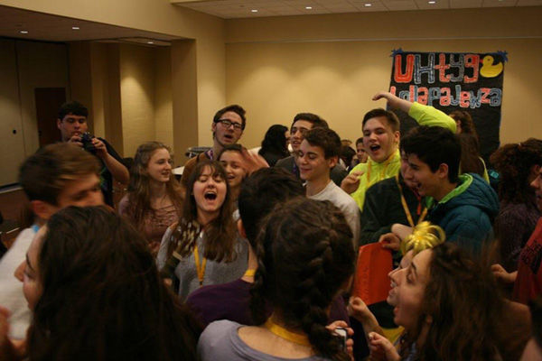 Students involved in NFTY enjoy their Winter Chavurah at United Hebrew Congregation.